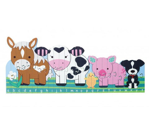 Orange Tree Toys Farm Animals Alphabet Puzzle