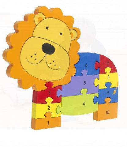 Orange Tree Toys Lion Number Puzzle