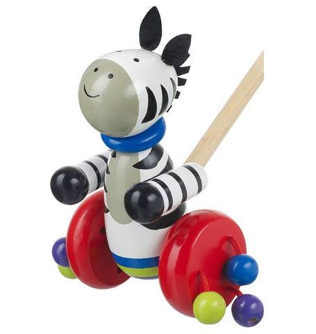 Orange Tree Toys Zebra Push Along