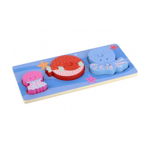 Orange Tree Toys Sealife Mini Puzzle Tray