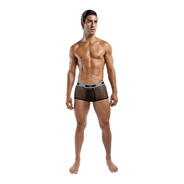 Male Power Peep Show Mini Short Black - KinkyDiva
