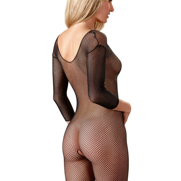 Cottelli Collection Black Net Catsuit - kinkydiva-com