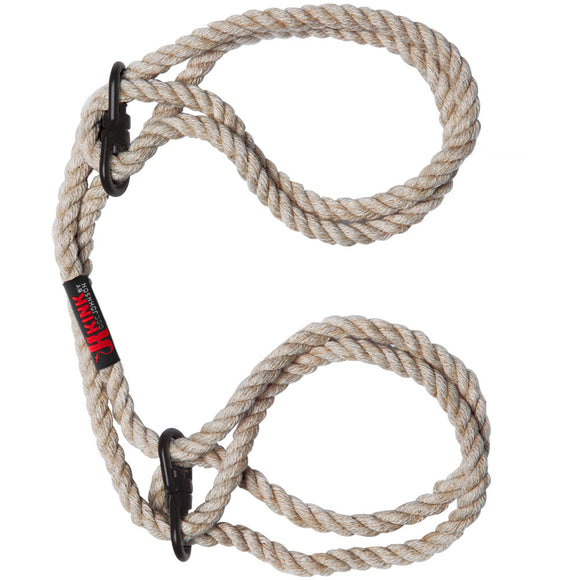 KinkyDiva KINK Hogtied Bind and Tie 6mm Hemp Wrist or Ankle Cuffs £18.99