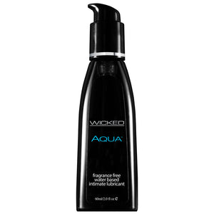 Wicked Aqua Fragrance Free Waterbase Lubricant 60mls - kinkydiva-com