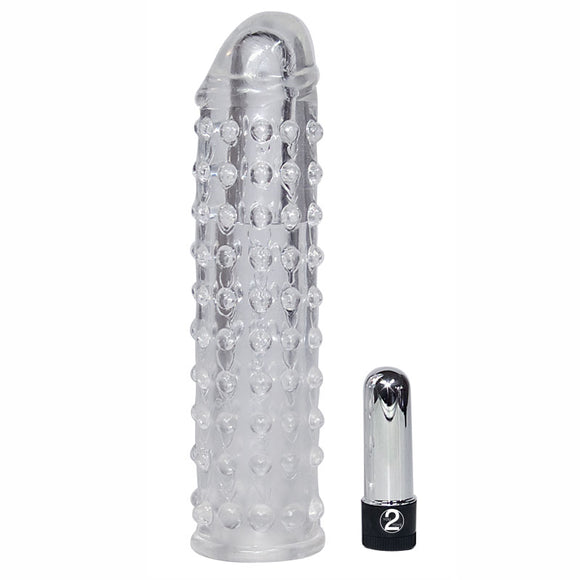Clear Vibrating Penis Sleeve - kinkydiva-com