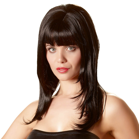 Long Black Wig - kinkydiva-com