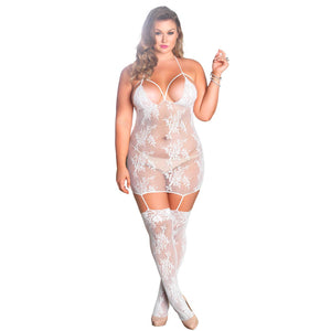 Leg Avenue Strappy Suspender Dress UK 16 to 18 - kinkydiva-com