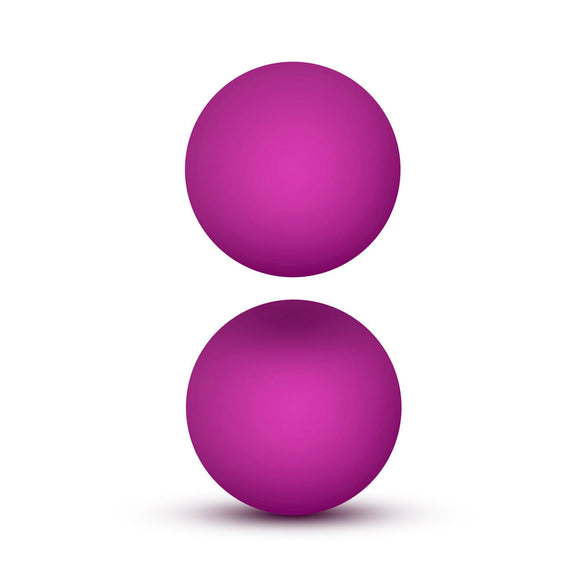 Luxe Pink Double O Kegel Balls Weighted 1.3 Ounce - kinkydiva-com