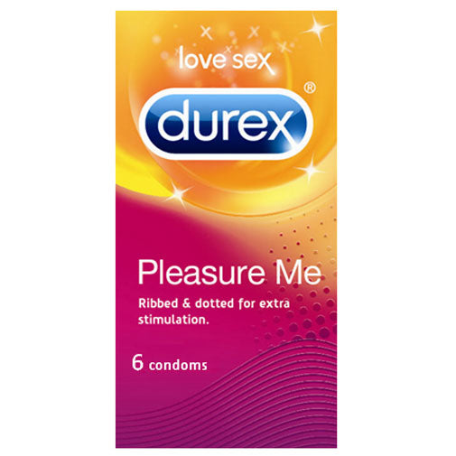 Durex Pleasure Me 6 Pack Condoms - kinkydiva-com