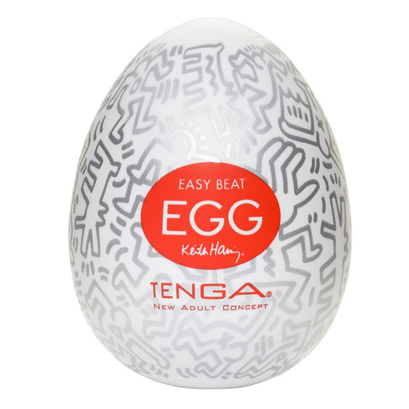 Tenga Keith Haring Party Egg Masturbator - kinkydiva-com