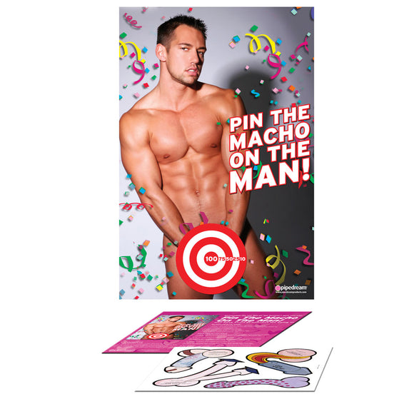 Bachelorette Party Favors Pin The Macho On The Man - kinkydiva-com