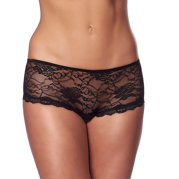 Spicy Black Crotchless Briefs - kinkydiva-com