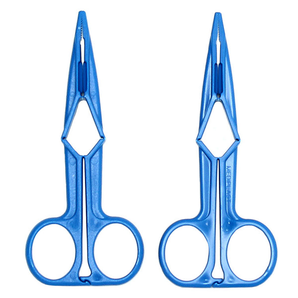 Blue Scissor Nipple Clamps - KinkyDiva