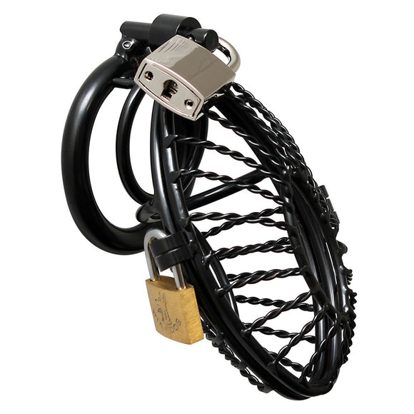KinkyDiva Opening Metal Male Chastity Device With 2 Padlocks £66.99