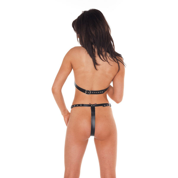 Leather Open Bikini - kinkydiva-com