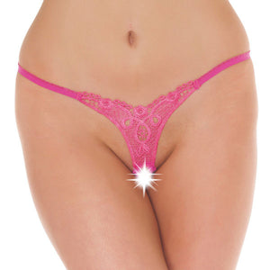 KinkyDiva Detailed Crotchless GString Pink £11.99