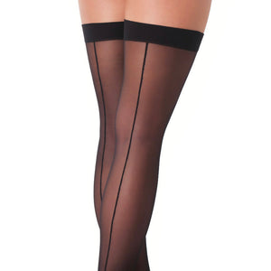KinkyDiva Black Sexy Stockings With Seem £10.99