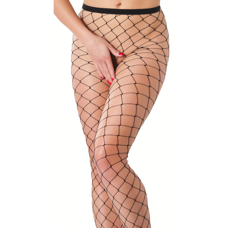 Black Fishnet Tights - kinkydiva-com
