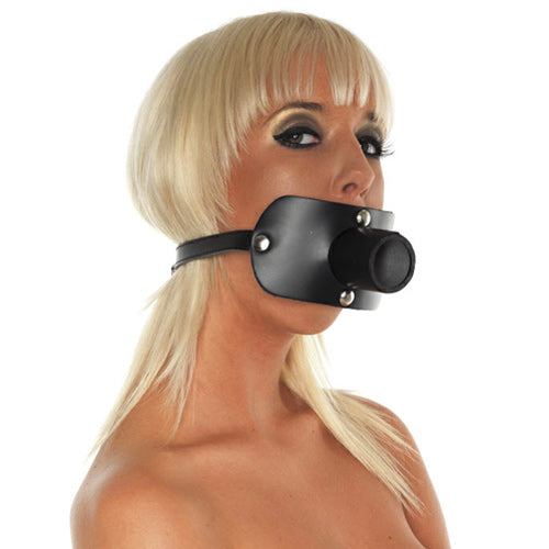 KinkyDiva Leather Gag With Urine Tube £48.99