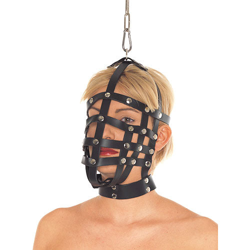 Leather Muzzle Mask - kinkydiva-com