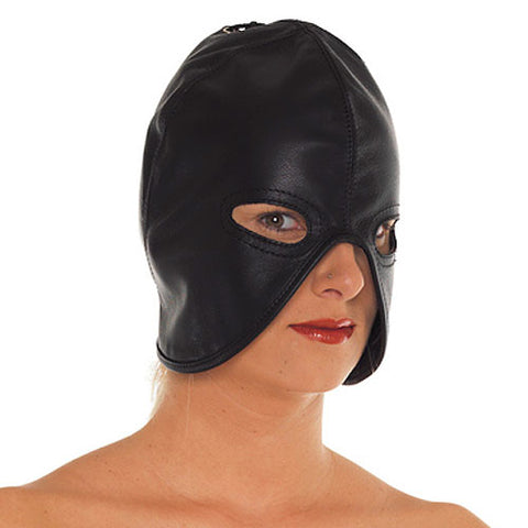 Leather Head Mask - kinkydiva-com