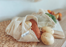 Load image into Gallery viewer, Organic Cotton Mesh Produce Bag (3 pack)