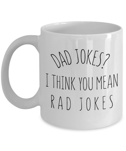 Dad Jokes Mug, Funny Father's Day or Birthday Gift