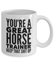 Load image into Gallery viewer, Horse Mug | Horse Trainer Gift