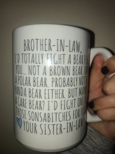Brother in Law mug * Discounted due to Mug Imperfections