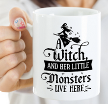 Load image into Gallery viewer, Witch Mom Mug | Little Monsters Mug