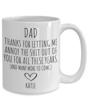 Load image into Gallery viewer, Dad Mug | Father's Day Gift from Daughter