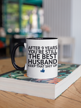 Load image into Gallery viewer, 9 Year Anniversary Mug for Husband