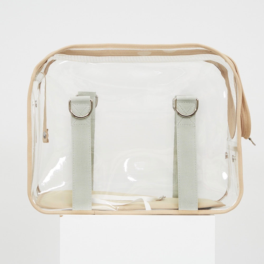 ※予約販売【ONE OF US】French Clear Bag(Croissant Beige)