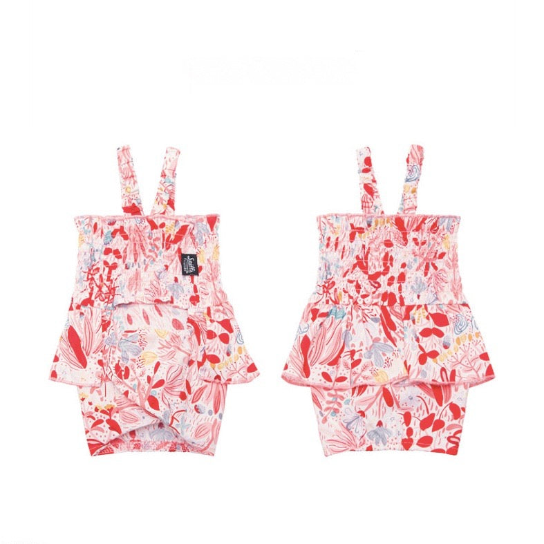 【Sniff】FLORAL ROMPERS(PINK)