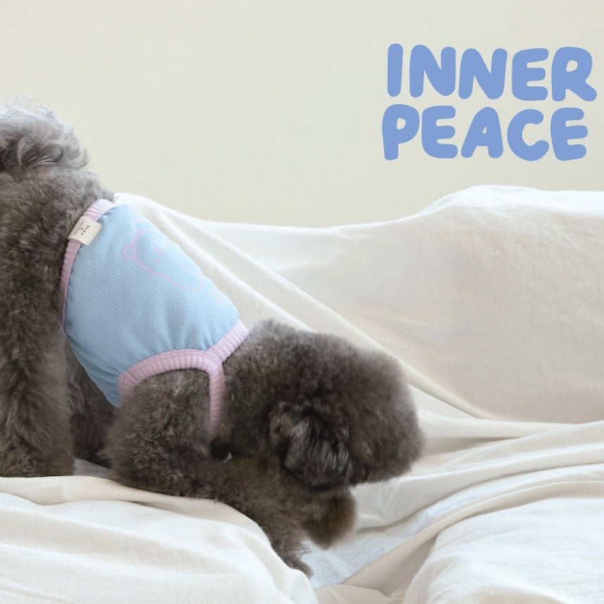 ※予約販売【cosy corner】inner peace crop top(ロイヤルブルー)