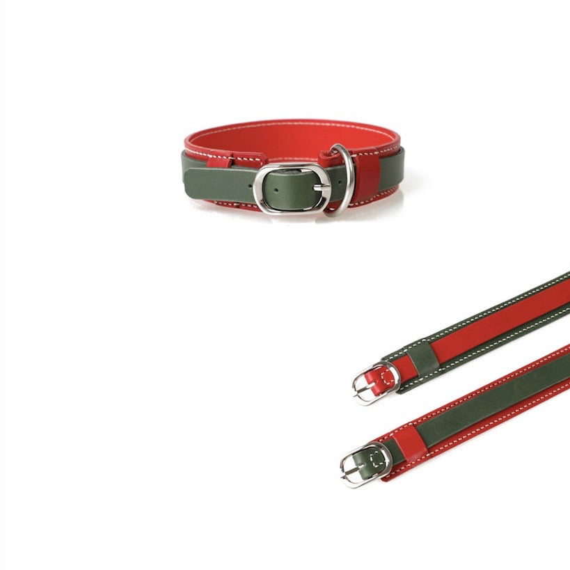 ※予約販売【GOPE】 Signature Collar(Red / Green)