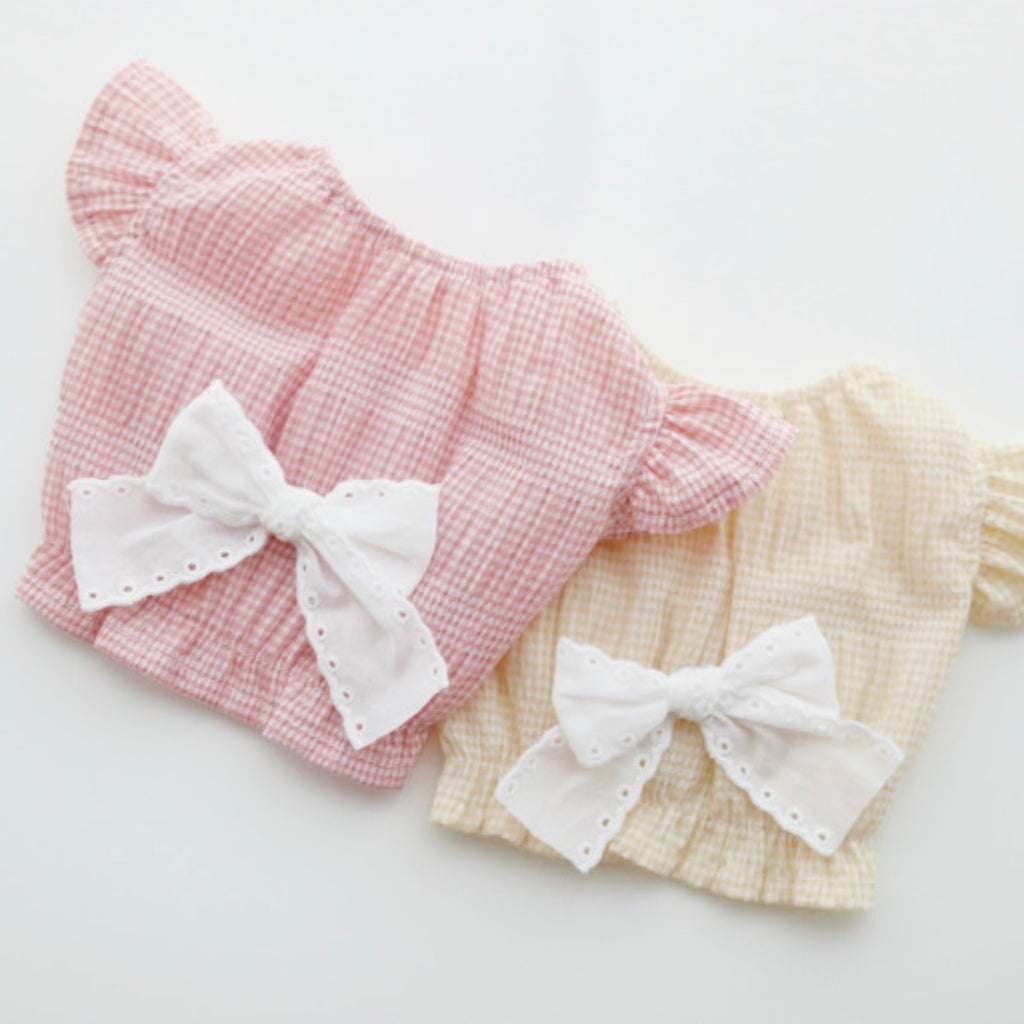 ※予約販売【bezibebi】 ROMANTIC FAILY TOPS(ピンク)
