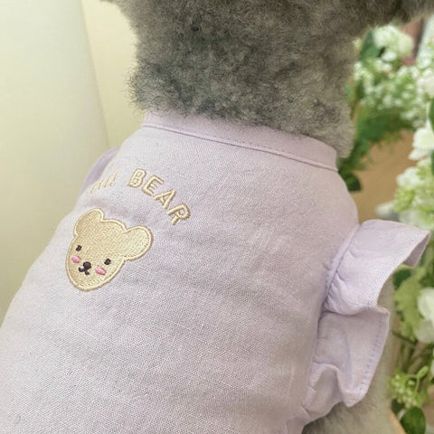 ※予約販売【Bonjour TOU-TOU】 Hi bear angel crop tops(ラベンダー)