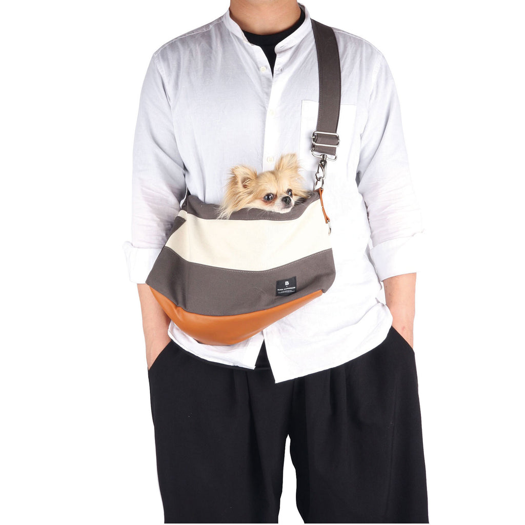 【monchouchou】Dog Messenger Bag (ダークグレー)