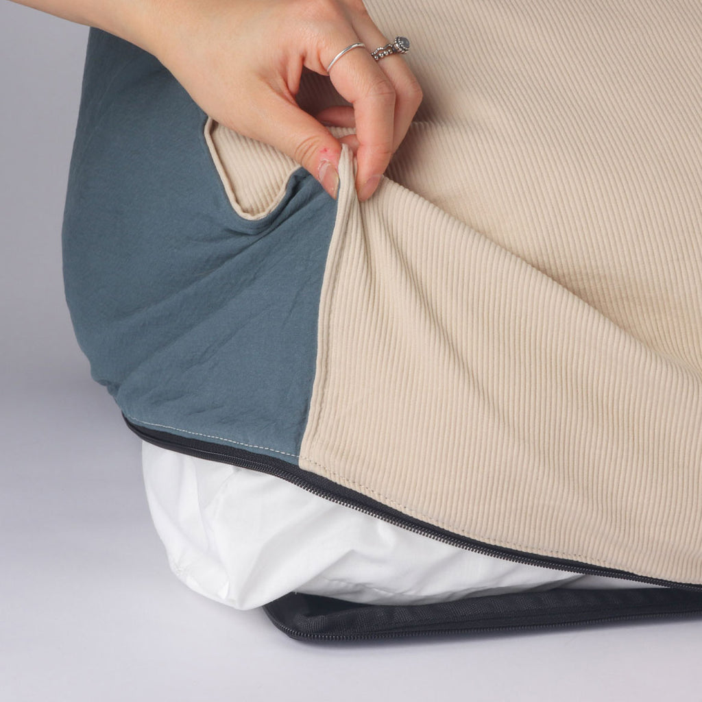 ※※予約販売【monchouchou】The Standard Double Cushion (アッシュブルー)