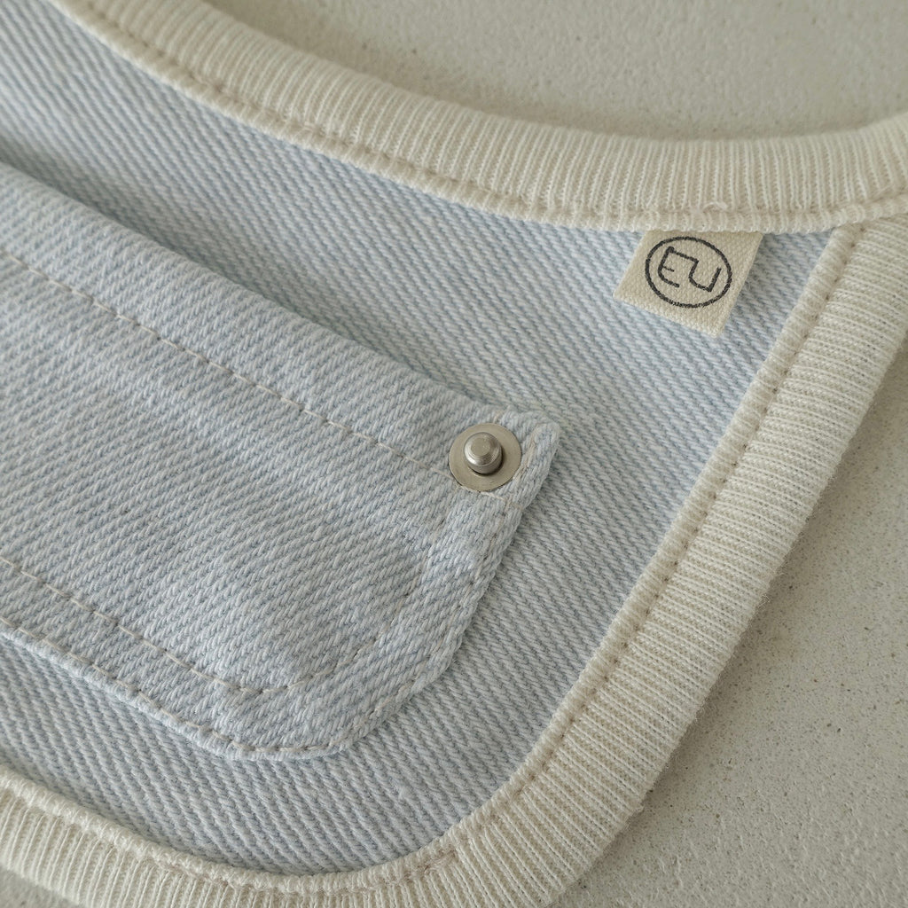 【eyou】 pocket Denim bib
