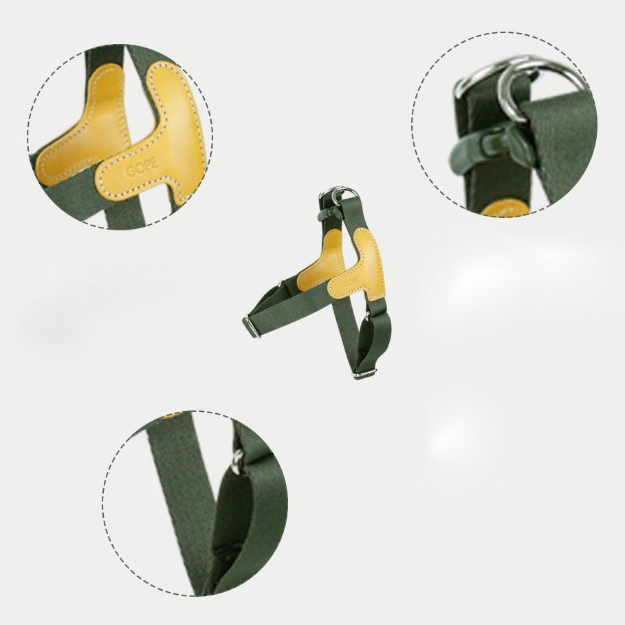 ※予約販売【GOPE】 Picture Harness(Yellow / Khaki)