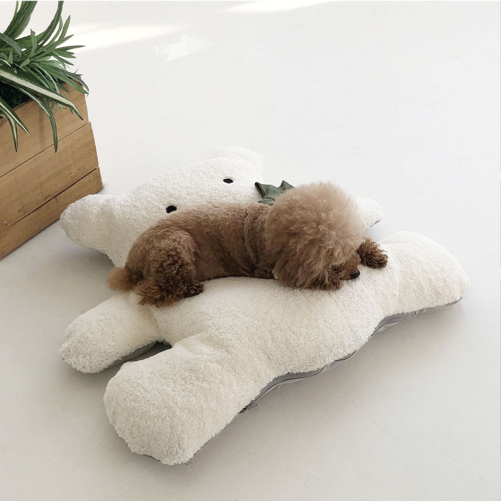 ※予約販売【monchouchou】Bear Friend cushion(ホワイト)