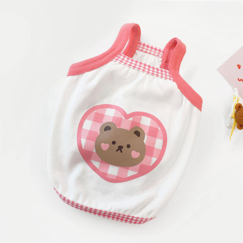 ※予約販売【DURANG RURANG】check bear tops(ピンク)