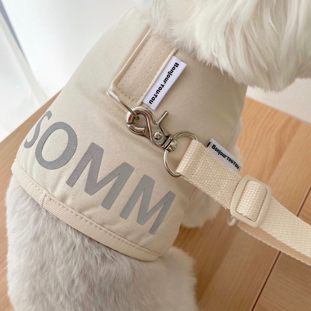 ※予約販売【Bonjour TOU-TOU】NAME CUSTUM HARNESS & LEAD (SET)(アイボリー)