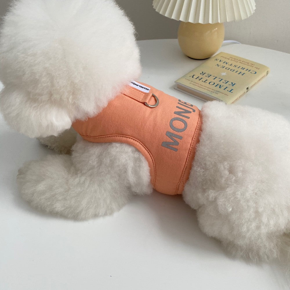 ※予約販売【Bonjour TOU-TOU】NAME CUSTUM HARNESS(アプリコット)