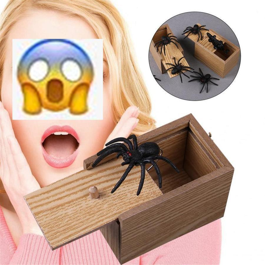 Limited Time Offer Sale - 50 % OFF - Prank Insect Wooden Scare Box Trick Play Funny Novelties Toys Tricks Spider