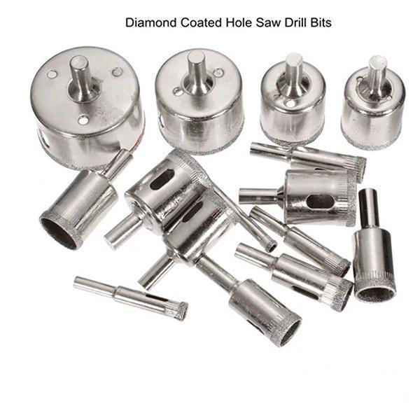 Diamond Glass Drill Bit Set (15pcs)