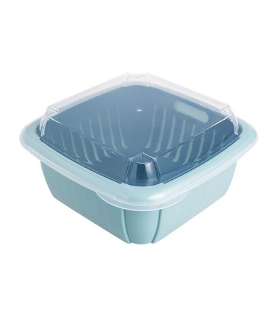 Double Layer Drain Storage Basket
