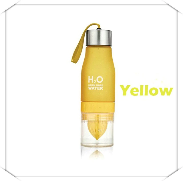 Deals Streak H2O Fruit Infusion Water Bottle yellow color
